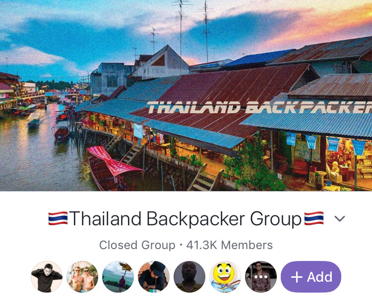 solo travel thailand facebook group