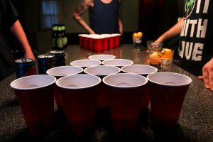 power of positivity, beer pong